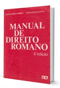 Imagem - Manual de Direito Romano