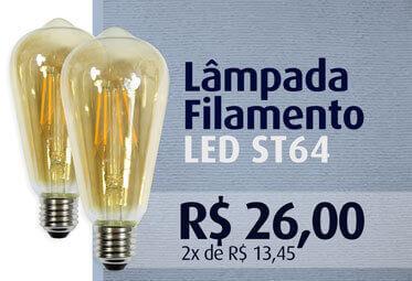 Lâmpada LED Filamento ST64