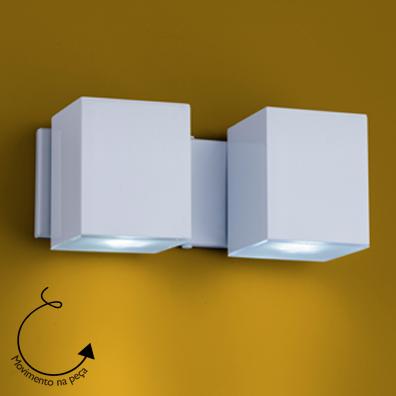 Arandela Aluminio Articulada Cubo P/ 2 Lâmpada GU10 Ideal Iluminação A-92