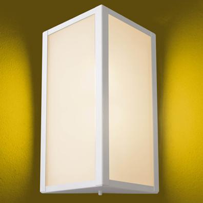 Arandela Aluminio Quadrada P/ 1 Lâmpada E27 Ideal Iluminação 285