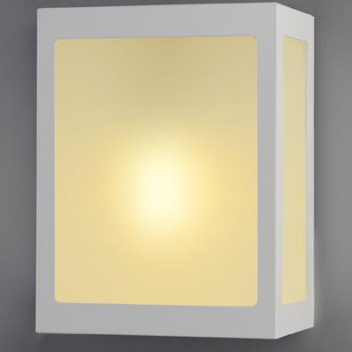 Arandela Aluminio Trapezio C/Vidro P/ 1 Lâmpada E27 Ideal Iluminação 281