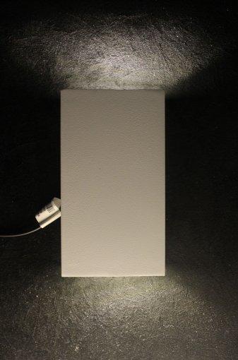 Arandela de Efeito LED Retangular Alumínio 2 Fachos Luz