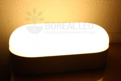Arandela Externa LED Tartaruga 15W Branco Quente 3000K