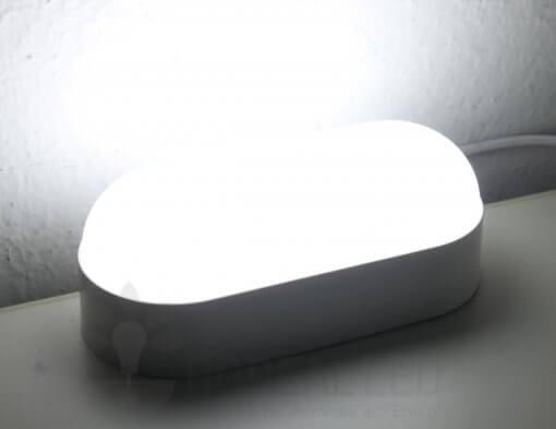 Arandela Externa LED Tartaruga 8W Branco Luz Branco Frio 6500K