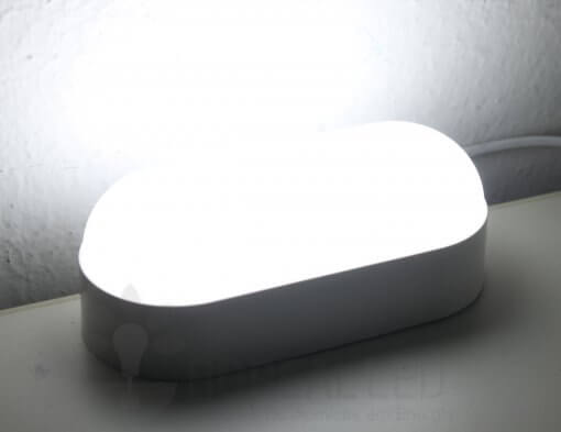 Arandela Externa LED Tartaruga 8W Branco Luz Branco Frio 6500K Luz Sollar
