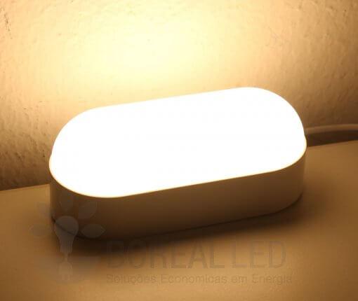 Arandela Externa LED Tartaruga 8W Branco Luz Branco Quente 3000K
