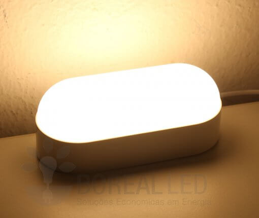 Arandela Externa LED Tartaruga 8W Branco Luz Branco Quente 3000K Luz Sollar