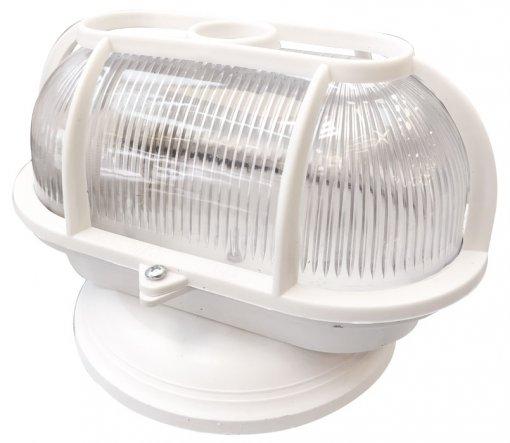 Arandela Tartaruga Branca Com Grade e Base p/ Lâmpada E27