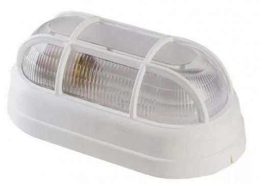 Arandela Tartaruga Branca Com Grade p/ Lâmpada E27 Policarbonato Demi