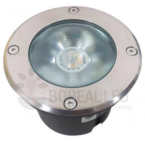 Balizador Embutir Solo Chão 12W LED IP67 Biv 3000K Branco Quente