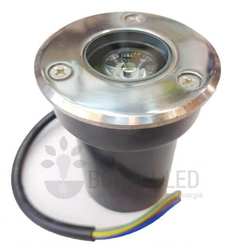 Balizador Embutir Solo Chão 1W LED IP66 Biv Branco Frio