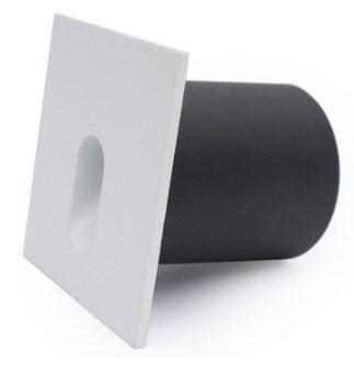 Balizador LED 3W Embutir Parede Quadrado Branco Quente 3000K Initial