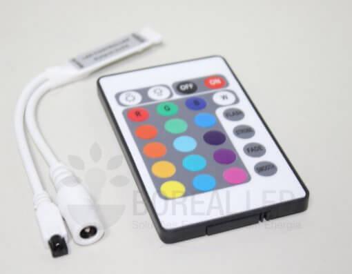 Controladora Slim e Controle Remoto p/ Fita LED RGB 3528 5050 12V