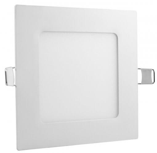 Painel Plafon LED 6W Embutir Quadrado 12x12cm Branco Quente