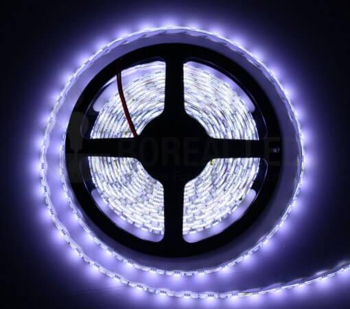 Fita LED 5050 Branco Frio 6500K 300 Leds 5 Metros 12V IP65 Dupla Face