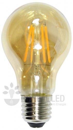 Lâmpada Filamento Carbono LED A60 4W Âmbar 2300K