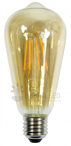 Lâmpada Filamento LED ST64 Vintage Thomas Edison 2300K E27