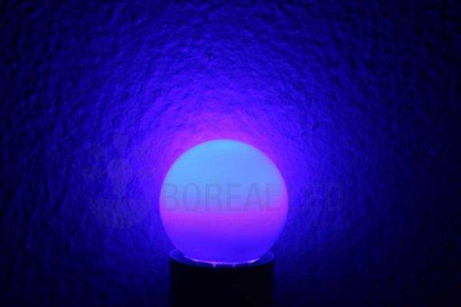 Lâmpada LED Bolinha 1W Azul E27 127V
