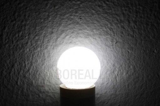 Lâmpada LED Bolinha 1W Branco Frio E27 127V