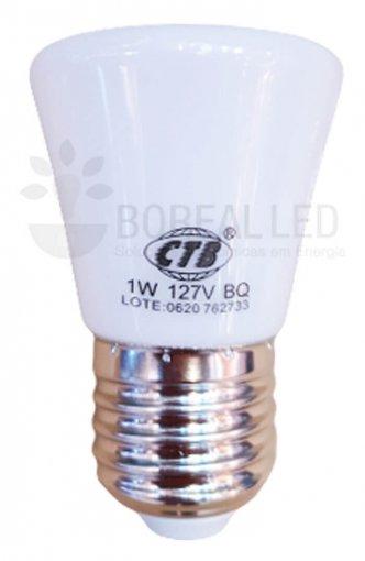 Lâmpada LED Decorativa Coroa 1W E27 Branco Quente 127V