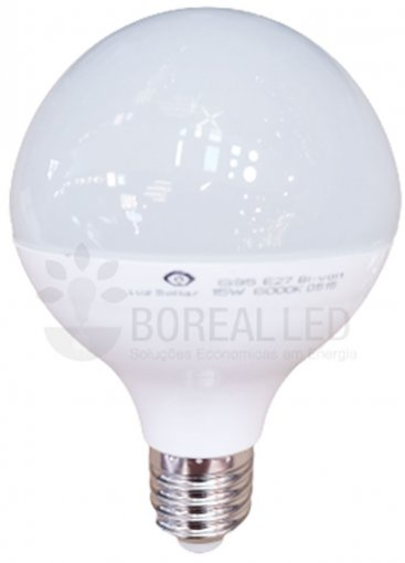 Lâmpada LED Globo Balloon 15W E27 G95 Bivolt Luz Branca 6000K