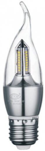 Lâmpada Vela Cristal Bico Torto 4W LED 320lm E27 Bivolt IP20 Branco Frio