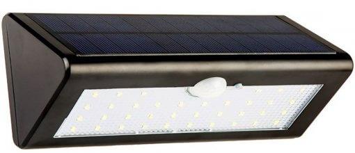 Luminária Arandela Solar Parede 38 LEDS C/ Sensor de Presença IP65