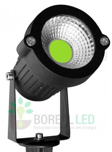 Luminária Espeto de Jardim LED COB 5W Verde