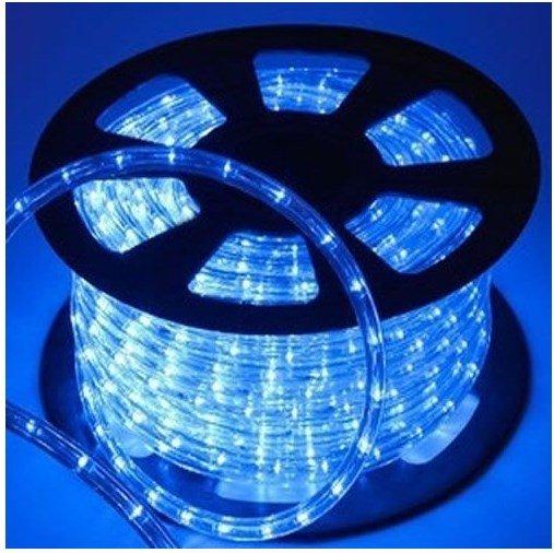 Mangueira de LED Rolo 100 Metros Azul 28 LEDS/m 12mm