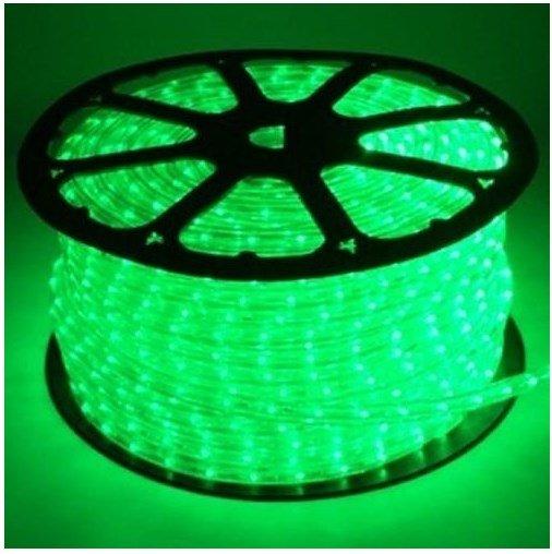 Mangueira de LED Rolo 100 Metros Verde 28 LEDS/m 12mm