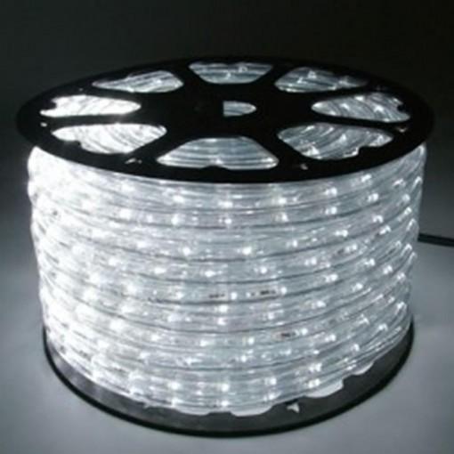 Mangueira de LED Rolo 100 Metros Branco Frio 28 LEDS/m 12mm