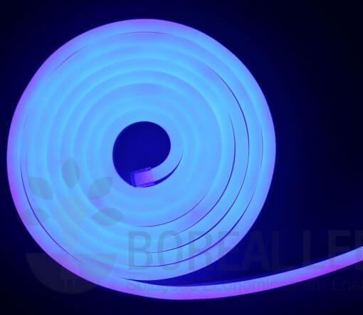 Mangueira LED Neon Flex Luz Azul 3m IP65 110V Uniled