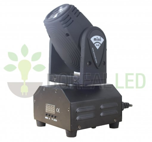 Mini Beam Moving Head Led 12w Cree Rgbw Dmx, Strobo, Profissional
