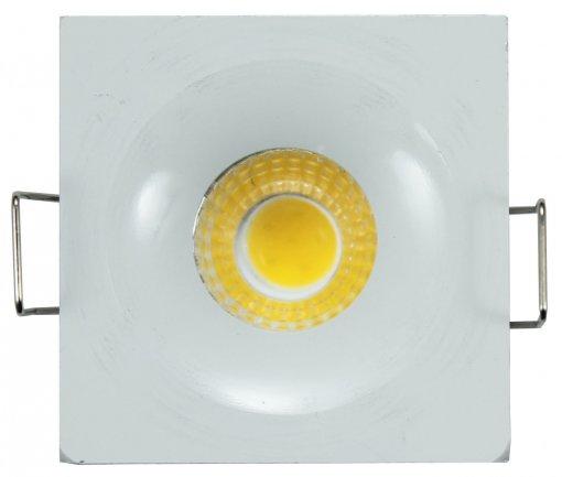 Mini Spot de Embutir LED 3W Quadrado Borda Branca Bivolt A.XU
