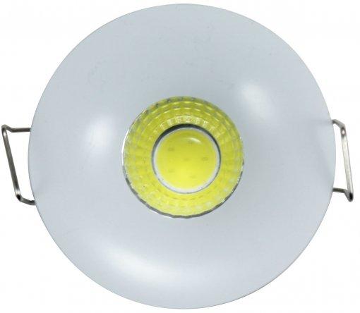 Mini Spot de Embutir LED 3W Redondo Borda Branca Bivolt Power XL