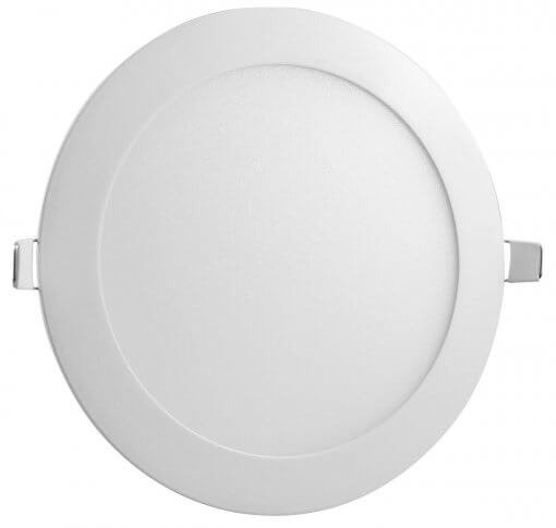 Painel Plafon LED 12W Embutir Redondo 17cm Branco Quente