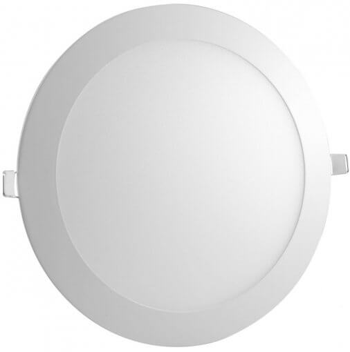 Painel Plafon LED Embutir 25W Redondo 30cm Branco Quente