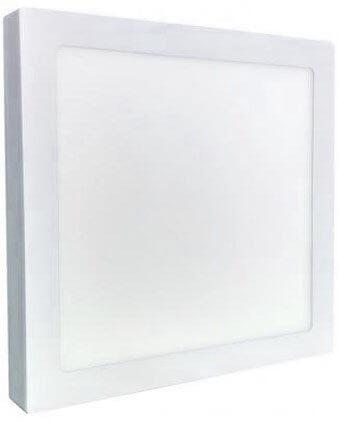 Painel Plafon LED Sobrepor 36W Quadrado 40X40cm Branco Quente
