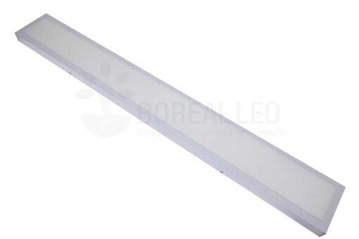 Painel Plafon LED Sobrepor 36W Retangular 15x120cm Branco Neutro