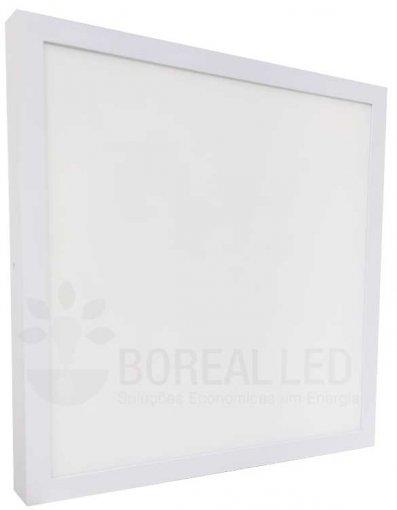 Painel Plafon LED Sobrepor 42W Quadrado 42x42cm Branco Neutro