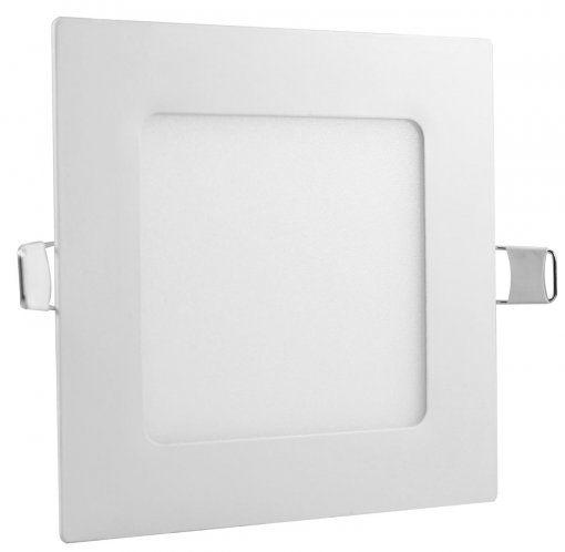 Painel Plafon LED 6W Embutir Quadrado 12x12cm Branco Frio