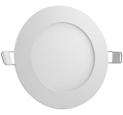 Painel Plafon LED 6W Embutir Redondo 12cm Branco Frio