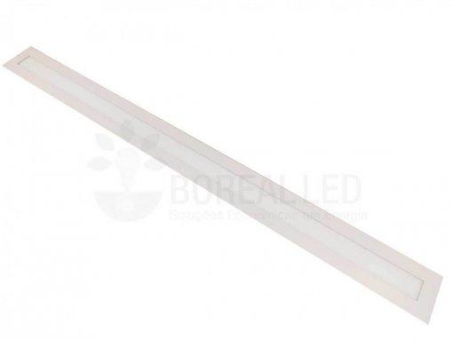 Plafon LED Embutir Retangular 36W 10x120cm Bivolt