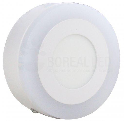 Plafon LED Sobrepor Azul e Branco 2 IN 1 Redondo 6W/9W 14,5X14,5cm