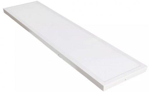 Painel Plafon LED Sobrepor 48W Retangular 30x120cm Branco Frio