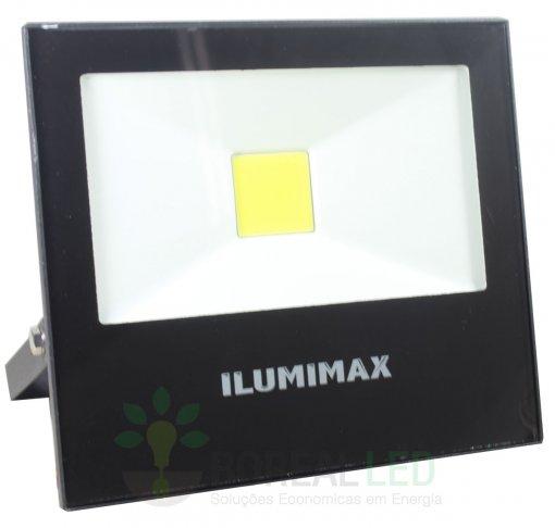 Refletor LED COB Slim 30W IP65 Preto Bivolt Ilumimax