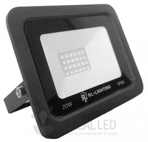 Refletor LED SMD 20W Verde Bivolt IP66 2.000lm Ângulo 120º
