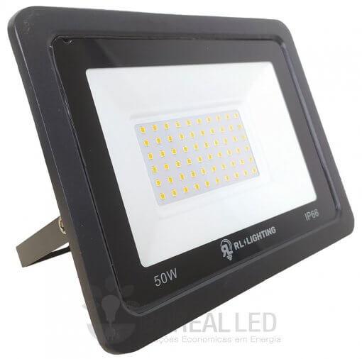 Refletor LED SMD 50W Branco Quente Bivolt IP66 5.000lm Ângulo 120º