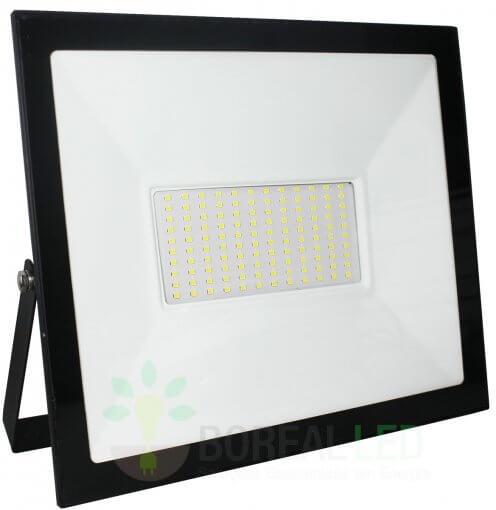 Refletor Micro LED SMD Slim 100W IP66 Fundo Branco Acabamento Preto