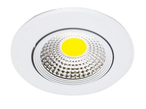 Spot de Embutir LED COB Redondo Metal 3W Luz